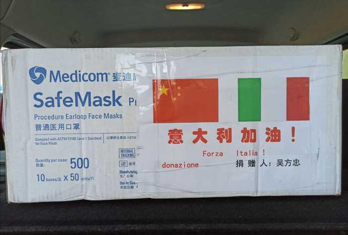 Coronavirus: mascherine regalo da Cina, tasse per chi riceve