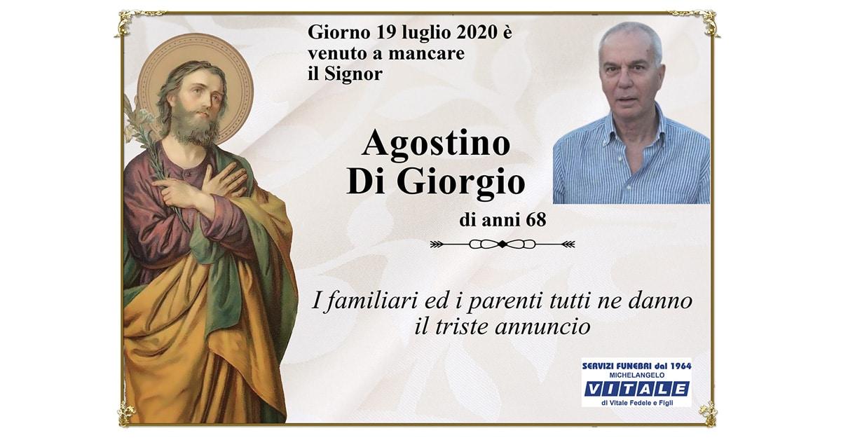 Necrologio Agostino Di Giorgio