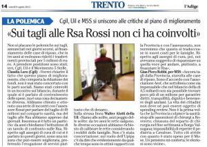 Gian Piero Robbi su L Adige