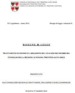 Conferenza stampa del 27 Marzo 2014 disegno di legge antivitalizi e riduzione delle indennità