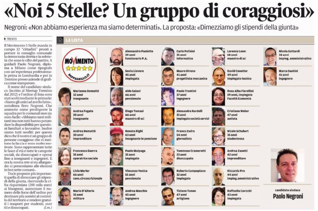 IlTrentino-20150424- presentazione lista M5S e Paolo Negroni