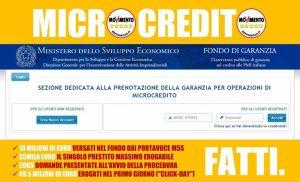 Volantino M5S Microcredito