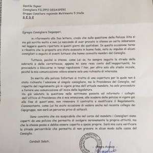 Risposta Chiara Avenazo Polizza Assicurativa