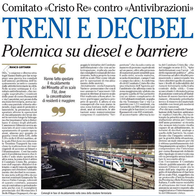 Articolo Adige 2016-08-28 treni trento