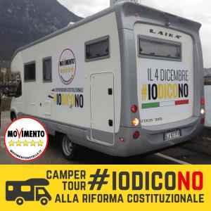Camper Tour #IOdicoNO: il 29 novembre tappe a San Michele e Coredo