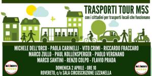 """Parte dal Trentino il """"TRASPORTI TOUR"""" del M5S domenica 2 aprile a Rovereto si parla con i cittadini di mobilità sostenibile"""