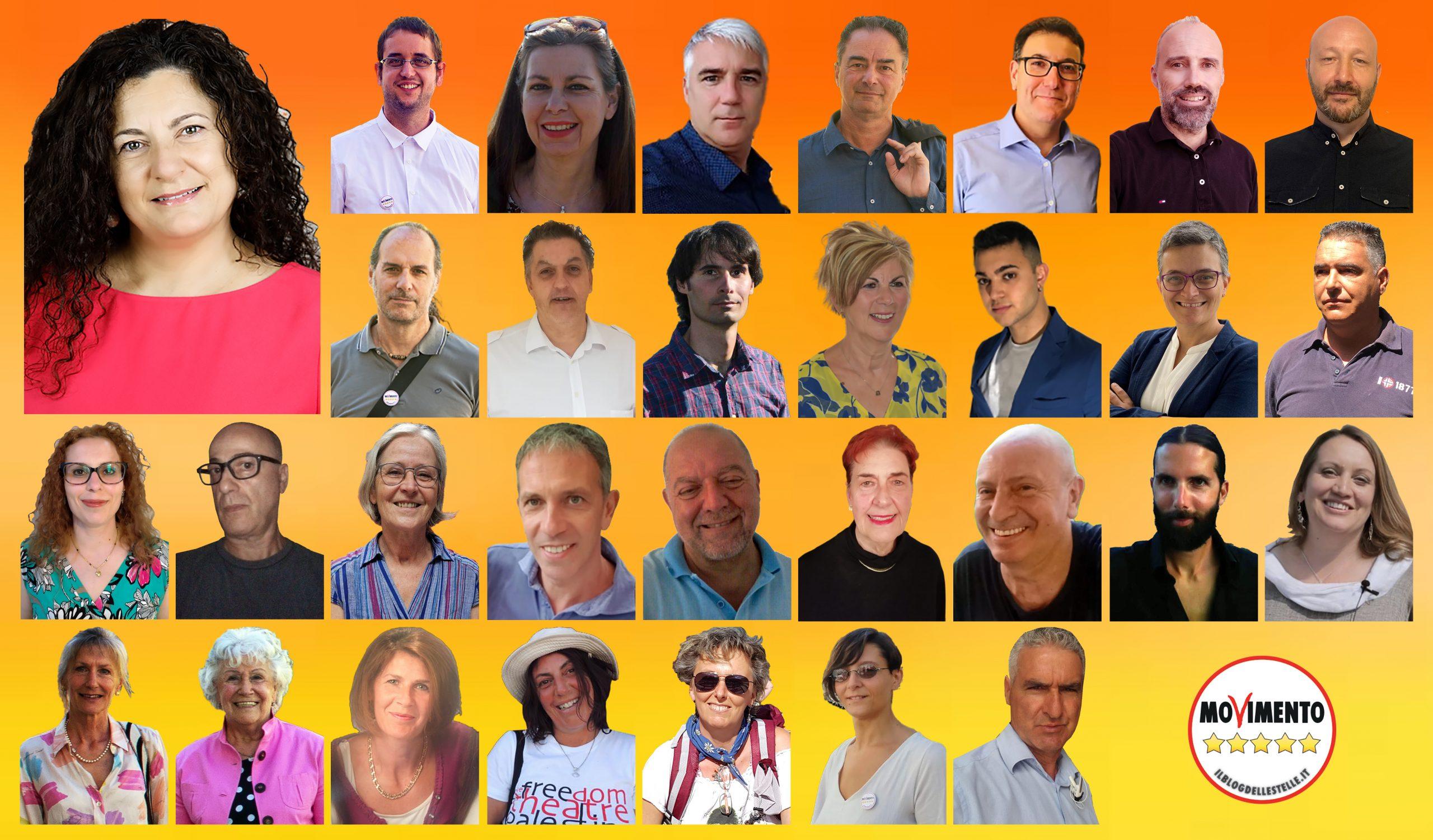 Candidati di lista M5S per elezioni comunali di Trento 2020