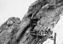 Postazione artiglieria in Marmolada