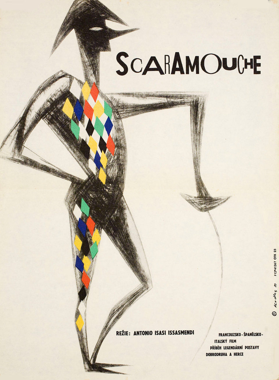 the-adventures-of-scaramouche-1963-original-czech-movie-poster