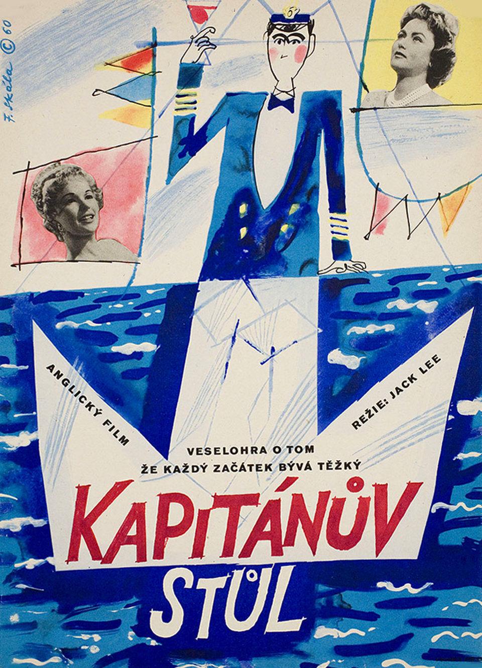 the-captains-table-1960-original-czech-republic-movie-poster