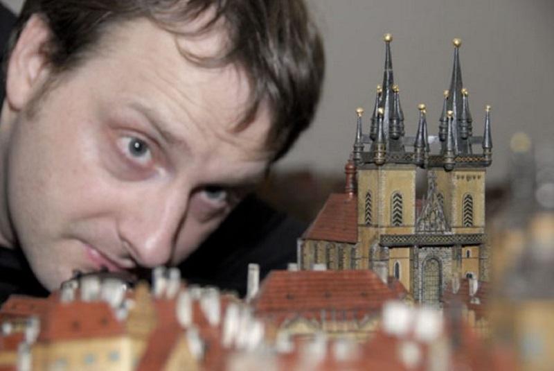Ing., Bc. Jan Buriánek during photographing the model