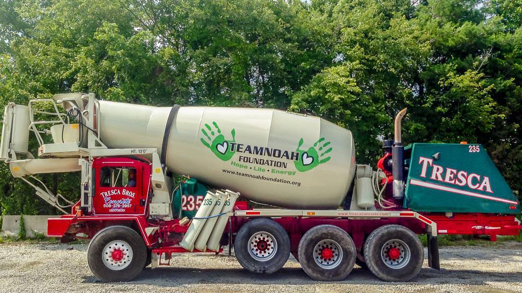 Team Noah Foundation Concrete Truck