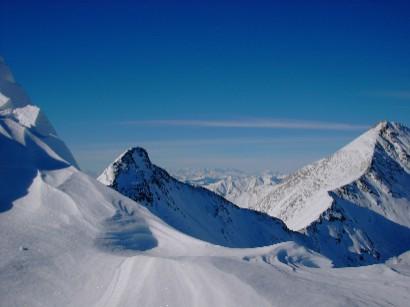 Panoramica montuosa dalla cima.