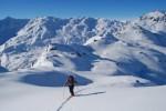 Ultimi metri prima del Dosso Resaccio 2719 m.