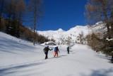 Battitura della traccia a Pescia Alta 2050 m.