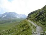 Il sentiero verso il pass Lunghin.