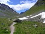 Sguardo all'indietro verso la Val Suvretta.