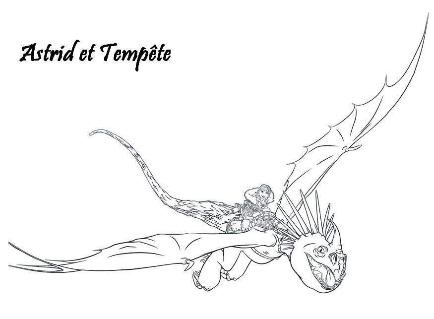 Coloriage A Imprimer Dragons 2 Astrid Et Tempete Gratuit