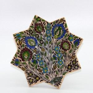 Carreau emaille, peint a la main en ceramique CS16