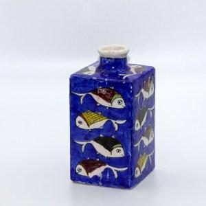 Potiche artisanale au motif poisson en céramique VD03 d'origine iranien