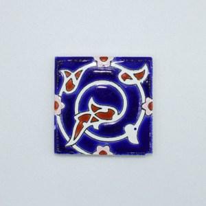 Carreau Aimant / Magnet Carré Motif Traditionnel en céramique CD65 fabriqué en Iran