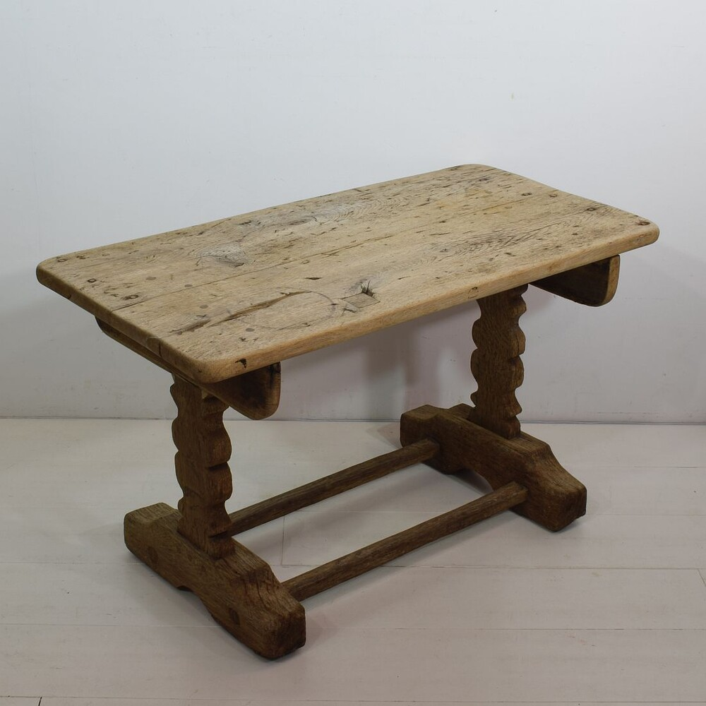 small 18 19th century weathered oak side table