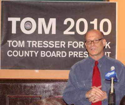On October 17, 2009 I announced I was entering the race for Cook County Board President as the candidate of the Green Party of Illinois.