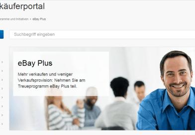 """Ebay Treueprogramm """"Ebay Plus"""" mit 15 % Rabatt für gewerbliche Verkäufer"""