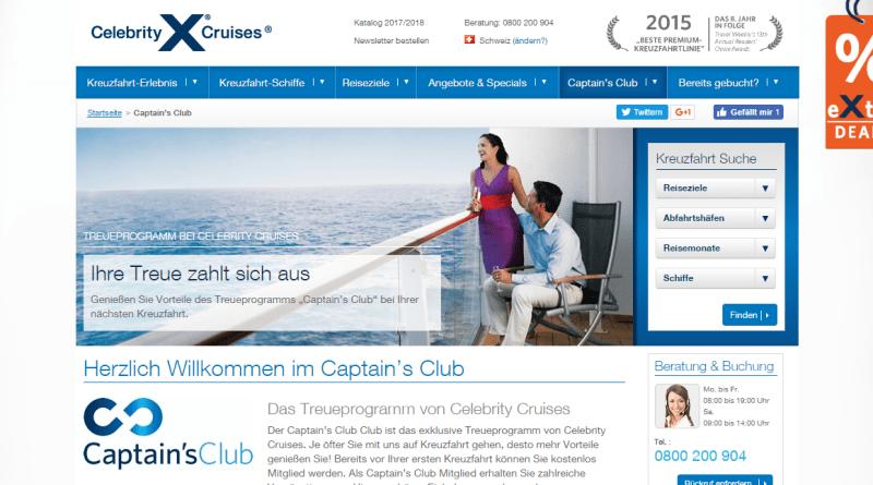 Captain's Club – Celebrity Cruises Treueprogramm für Kreuzfahrten