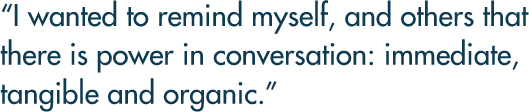 Power in conversation quote