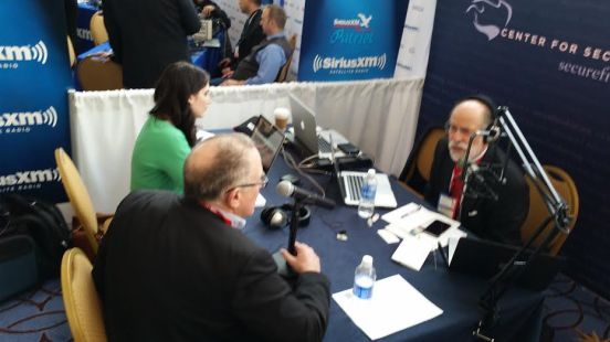 Trevor interviewing with Frank Gaffney of the Center for Security Policy at CPAC 2016