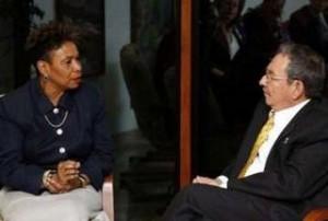 Barbara Lee, Raul Castro, 2009
