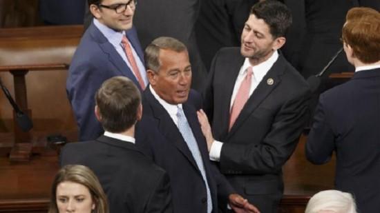 Paul Ryan with his buddy John Boehner via Yahoo News