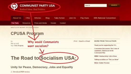 Communist Party wants Socialism