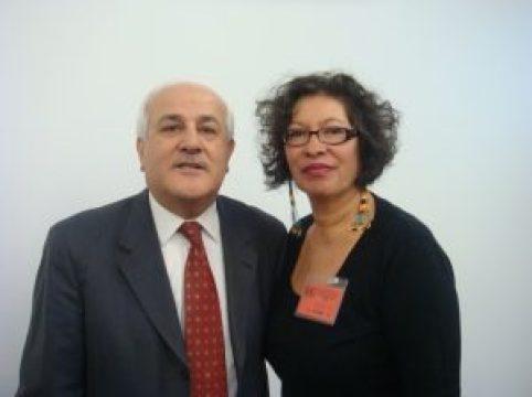 Palestinian Ambassador to UN Riyad Mansour and Judith Le Blanc, 2010