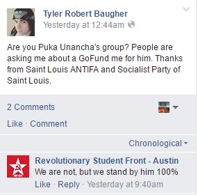 Red Guard friends Revolutionary Student Front - Austin