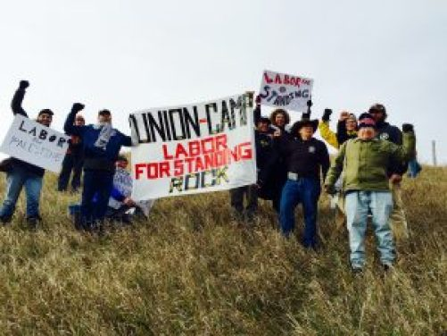 Labor for Palestine at Standing Rock