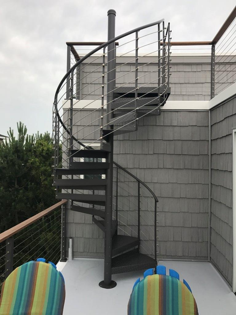 Trex® Spiral Stairs™ Introduces New Multi Line Railing System | Spiral Staircase Los Angeles | Loft | Handrail | 42 Inch | Romantic | Double Spiral