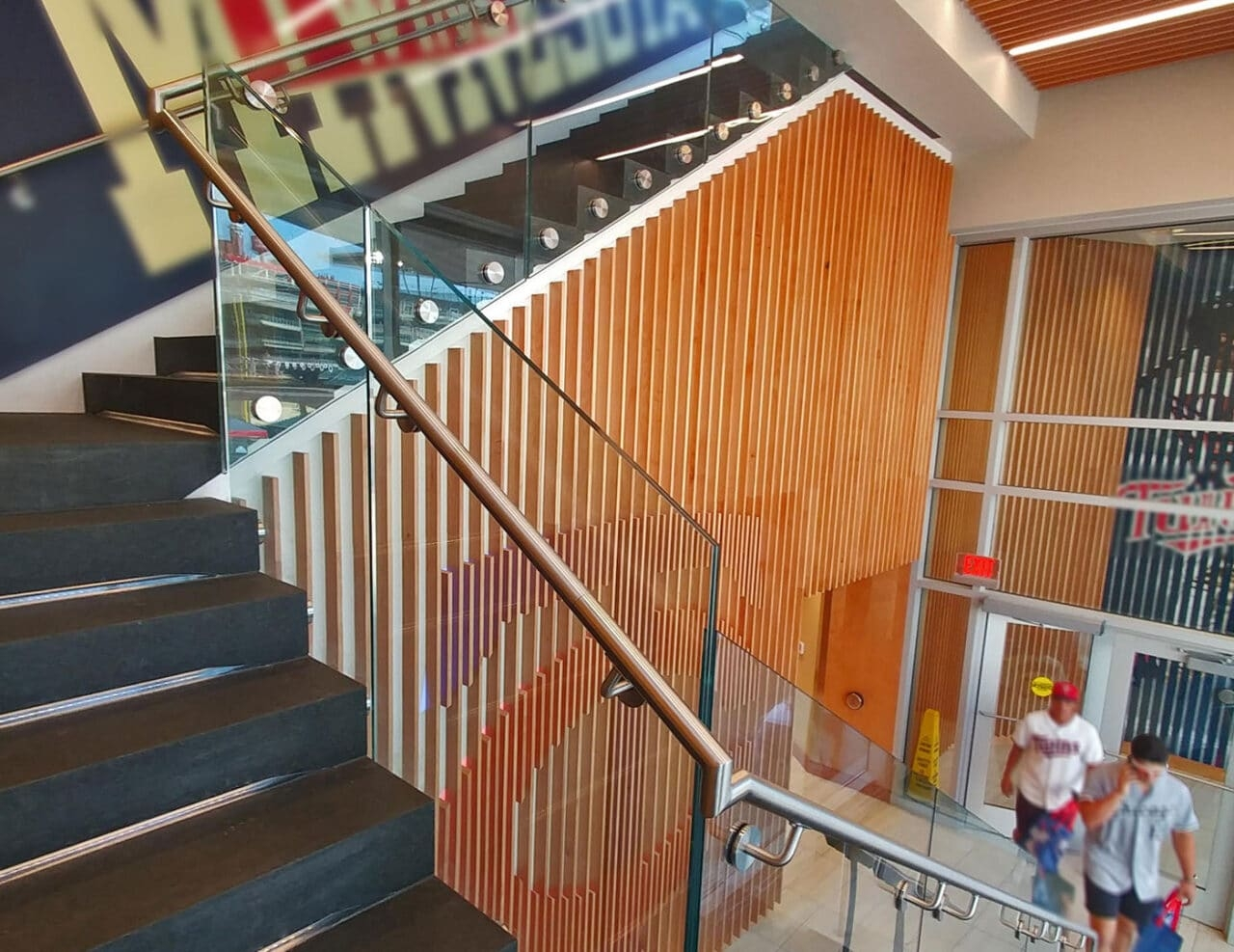 Fascia Node Mounted Glass Railing Trex Commercial Products   Clear Handrails For Stairs   Steel   Clear Acrylic   Wood   Riser   Metal