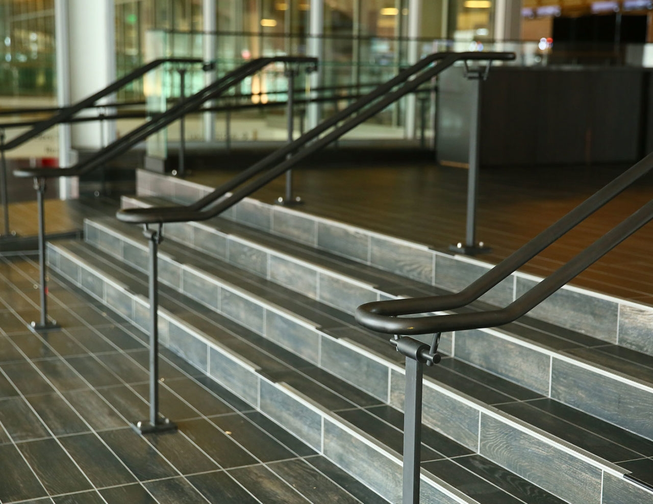 Griprail Commercial Metal Handrails Trex Commercial Products   Exterior Metal Handrails For Steps   Deck Railing   Outdoor Stair   Railing Systems   Wrought Iron Railings   Concrete Steps