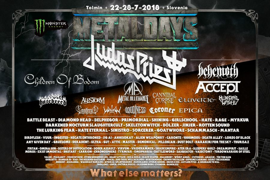 METAL DAYS 2018 : JUDAS PRIEST en tête d'affiche