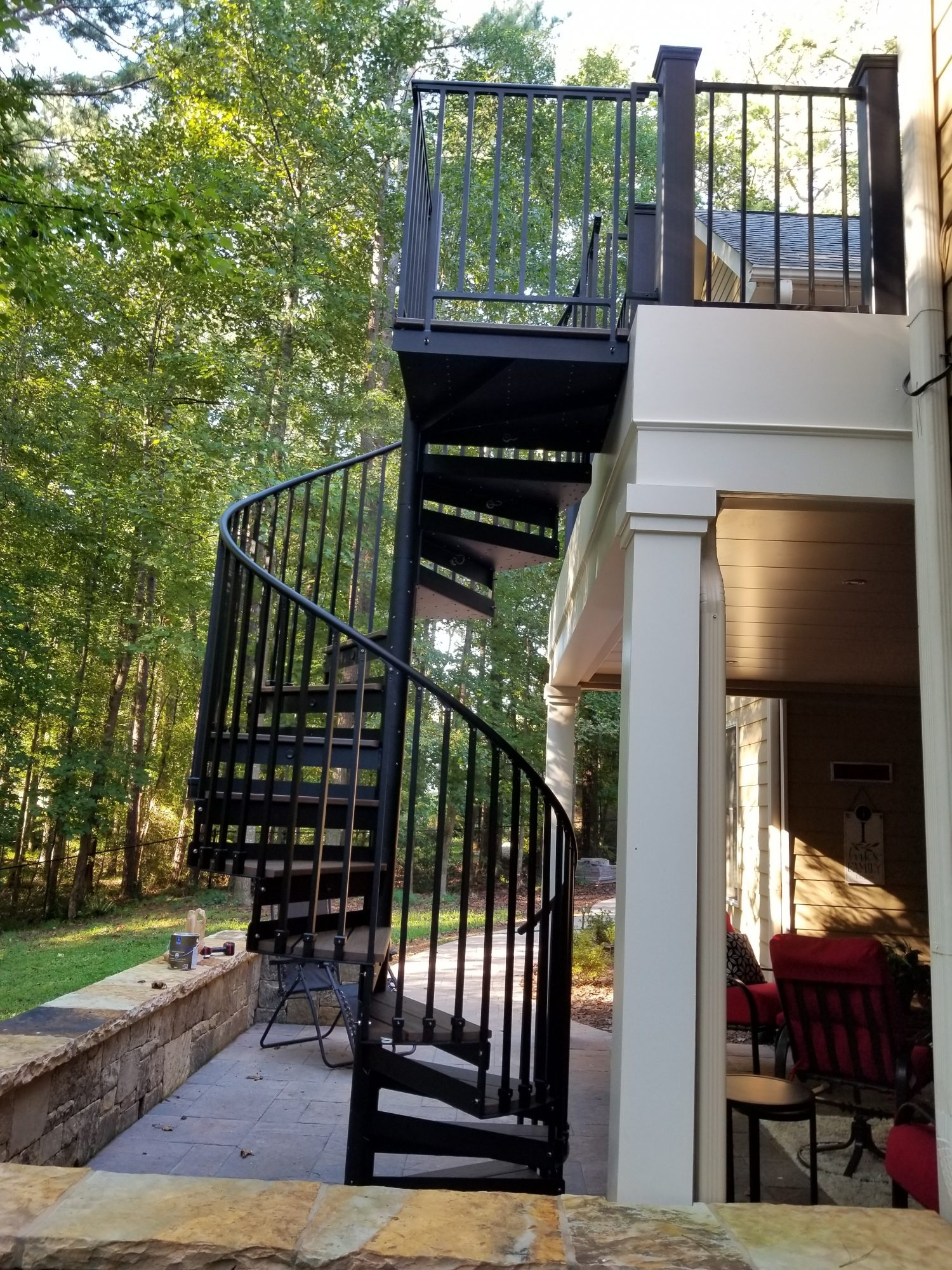Discover The Ultimate Staircase Alternative Trex Spiral Stairs   Spiral Stairs Off Deck   Railing   Wood Deck   Metal   Stair Case   Stairway