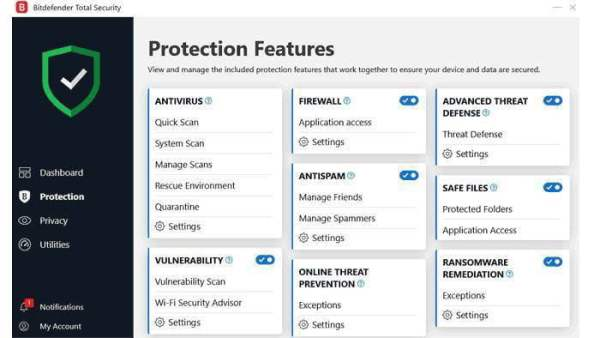 Bitdefender interface2 Antivirusni programi