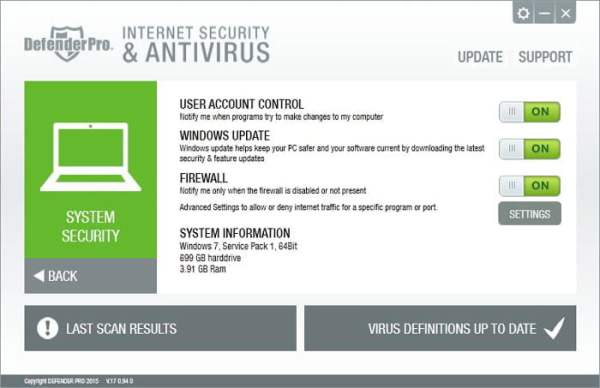 Defender Pro interfac3 Antivirusni programi