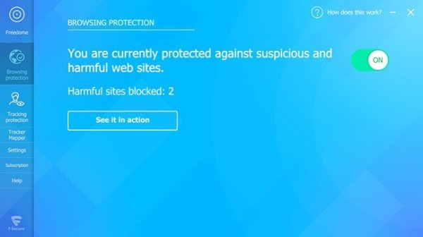 F Secure Freefome interface3 Antivirusni programi