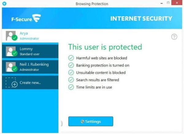 F Secure internet security interface2 Antivirusni programi