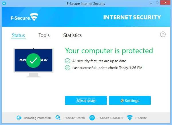 F Secure internet security interface3 Antivirusni programi