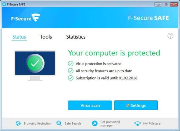 F secure safe interface Antivirusni programi