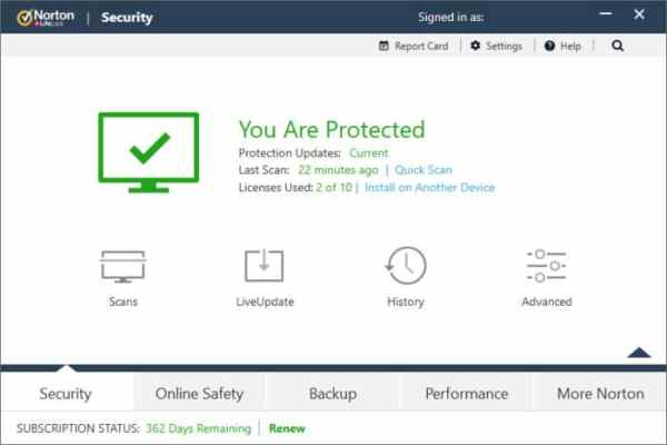 Norton Security interface3 Antivirusni programi