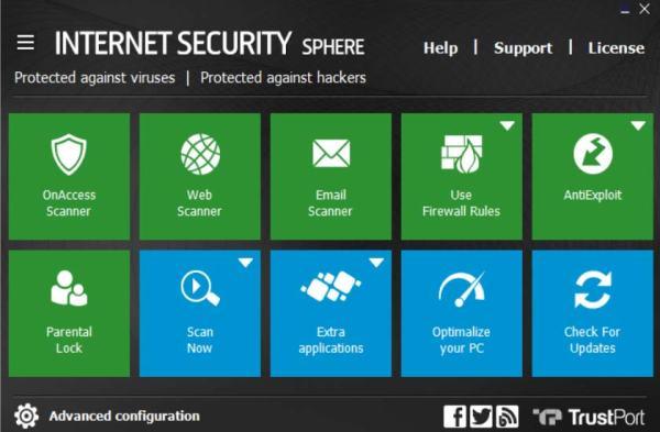 trustport interface2 Antivirusni programi